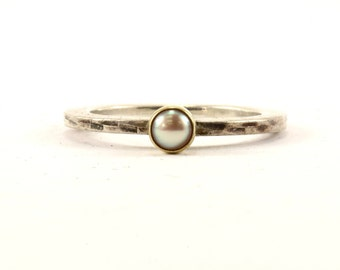 Vintage Thin Crystal Band Ring 925 Sterling Silver RG 3183