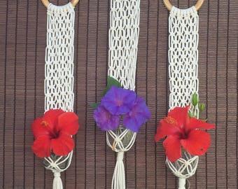 100% Cotton Hand Made Macrame Flower Hanger