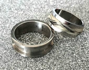 Ring blank horse hair ring blank horsehair stainless steel