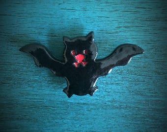 Ceramic Bat Magnet