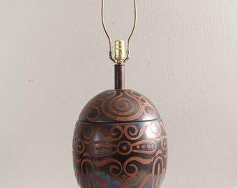 Vintage Ceramic Egg Table Lamp