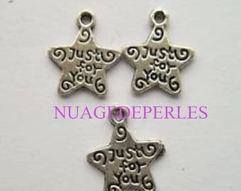 3 charms just star pendant Tibetan silver pricing