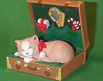 3 adorable kitten Hallmark ornaments