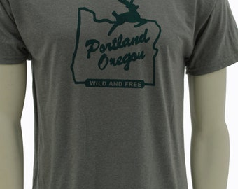 Tall sizes - Wild & Free - Portland Oregon -  Made in OR Sign - up to 3XL Tall