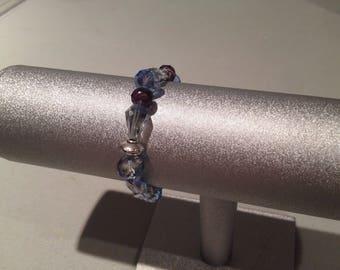 Elegant Purple Sapphire Stretch Bracelet