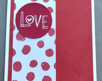 Love Blank Greeting Card