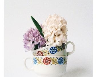 Vintage Teacup Geometric Design