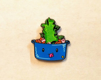 Pot Roast Kawaii Food Mo Mitchell Hat Pin