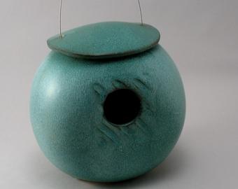 Ceramic Birdhouse, Pottery Bird House, Birdhouse Handmade, Garden Art