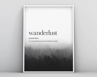 Travel Definition Printable Travel Quote Word Poster Travel