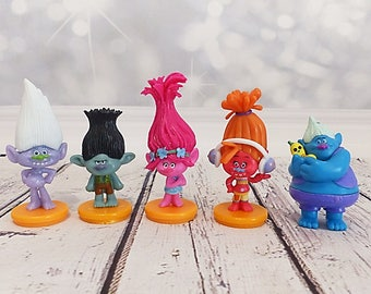 SET Cake topper - figurines Dreamworks Trolls