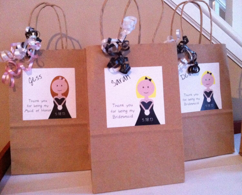 Bridesmaid Gift Bag Personalized Custom