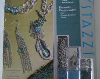Crystazzi for 203 pieces - 2 necklaces and 2 earrings - jewelry making Kit