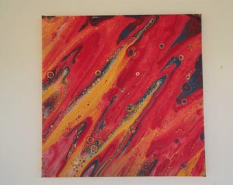 Absctract Original Painting 12 X 12 on Stretched canvas
