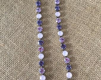 Purple swarovski necklace
