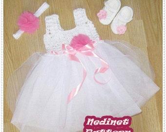 Crochet Baby Dress Pattern, Crochet Pattern, Crochet Dress Pattern, Turquoise Dress, Baby Dress Pattern, 0-12 m, tutu, Crochet Baby Pattern