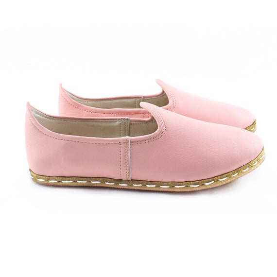 Cotton Handmade Leather Slip Women Shoes Flat Flats Ons Candy Leather Shoes rFpxRwIrq