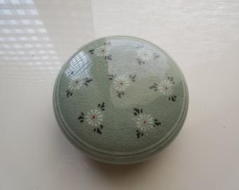 """Fine original vintage Korean ceramic, 4"""" round"""