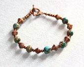 Bracelet green blue Jaspe...