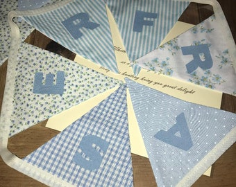 Personalised named baby bunting