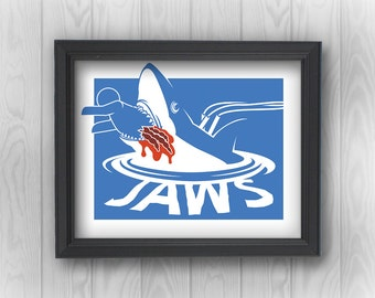 Jaws shark Quint bloody