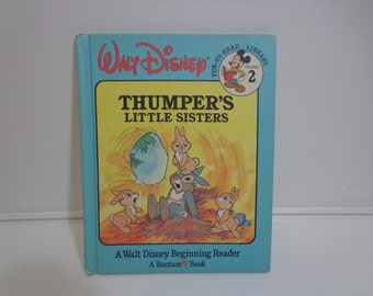 Walt Disney Vintage 80's Thumper's Little Sisters Fun to Read Library Volume 2 Beginning Reader Bantam Book