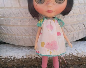 Dress for Blythe doll clouds rain. Blythe Dress Doll Clothing
