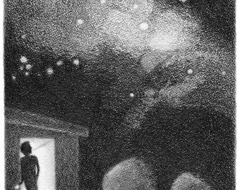 Smoke and Stars - 5x5 print