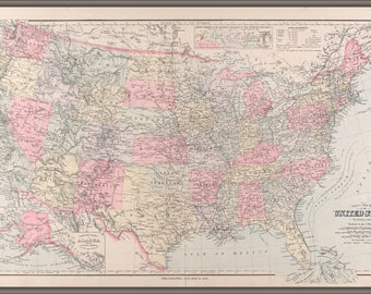 Poster, Many Sizes Available; Map Of The United States Of America 1891