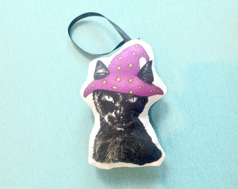 Halloween Cat Ornament, Animal Christmas Ornament