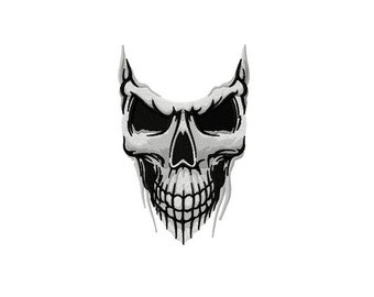 Skull embroidery design / embroidery designs / INSTANT download machine embroidery pattern