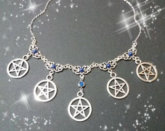 Necklace Witch, Pagan Jewlery, Wicca, Wiccan necklace, pentacle