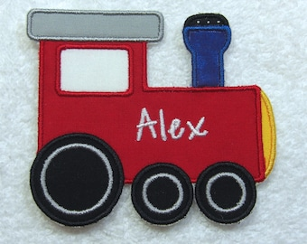 Train Personalized Name Patch Fabric Embroidered Iron On Applique Patch MADE TO ORDER