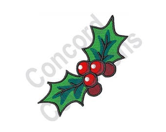 Christmas Holly - Machine Embroidery Design