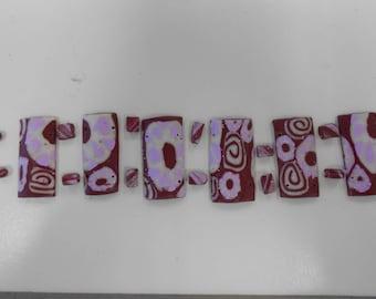 Parma violet polymer clay cuff bracelet Kit