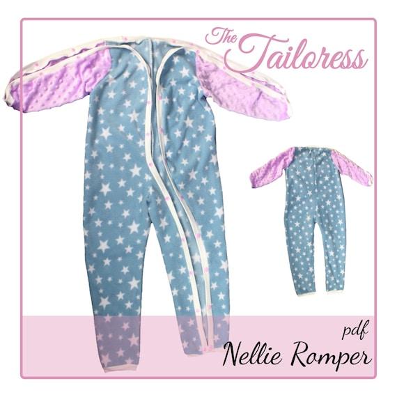 Nellie Adaptive Clothing PDF Romper PDF Sewing Pattern 9-14