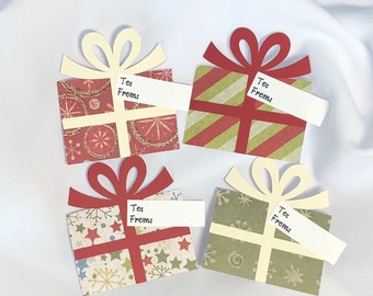 Christmas Gift Tags, Set of 12, Gift Tags, Christmas Tags,Handmade Christmas Tags, Personalized Gift Tags
