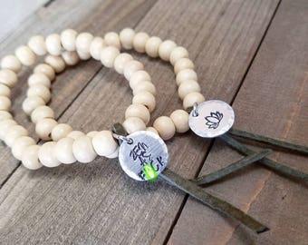 Zen as F - curse word bracelet - zen as f bracelet - yoga bead bracelet - wood bead bracelet - zen jewelry - zen charm bracelet - curse word