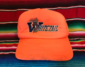 VTG Whitetail Safety Orange Hunter's snapback hat