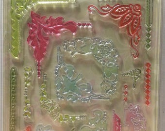 Heather Bailey Freshcut Stamps Decorative Corners Set