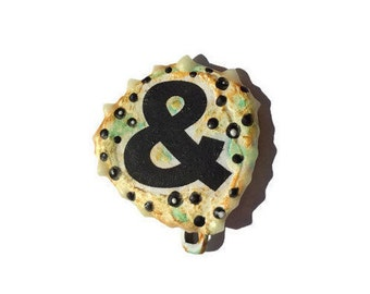 Ampersand pin, Literary Pin, Writing Pin, & Pin, Punctuation Pin - shipping included