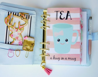 Tea Lover Personal, A5, A6, B6 & Pocket Size Planner Dashboards