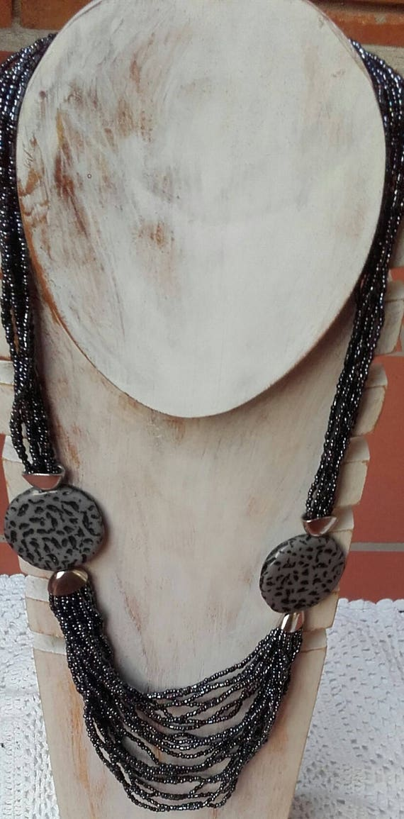 Pulsera granito bolas hematite adaptable colgante cuarzo Facetado ...