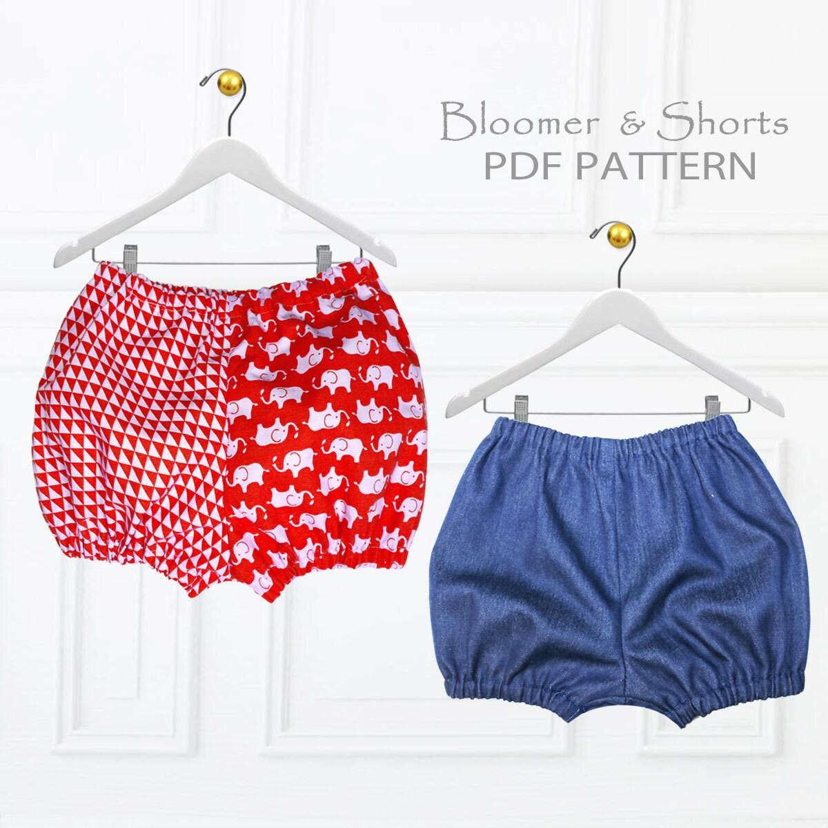 Girls sewing pattern pdf bloomer pattern shorts pattern zoom jeuxipadfo Gallery