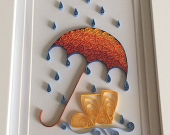 Quilled Umbrella and Boots