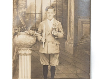 Antique photograph of a boy Antique Cabinet Photo Vintage Photography Boy in the CC#10024