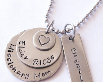 necklace, Missionary mom necklace, Mission necklace, Name Necklaces, lds, lds jewelry, missionary, mission necklace Valentines gift for mom