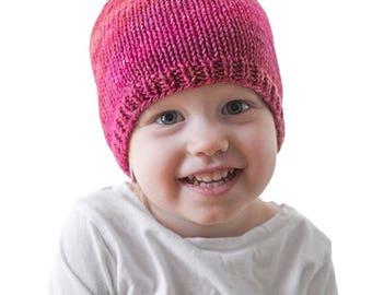 Easy Baby Hat KNITTING PATTERN / Easy Beanie Pattern / Easy Baby Hat / Easy Knit Baby Hat / Easy Knit Pattern / Knit Hat Pattern