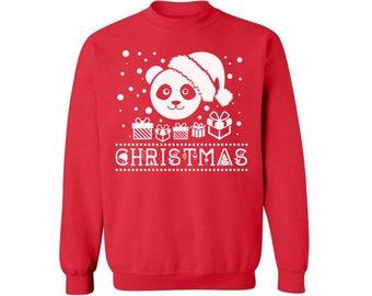 Christmas Panda Sweatshirt Panda Christmas Sweater for Men and Women Panda Santa Ugly Christmas Sweater for Men and Women Christmas Gifts