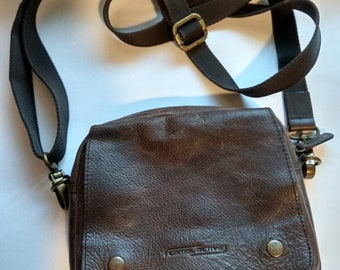 Camel Active Brown Leather Crossbody Bag